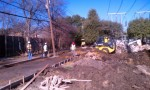 Construction work between Edgemere and Ricks near the Oncor substation.