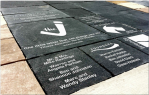 For as little as $100, you can have a name engraved on a beautiful commemorative paver.