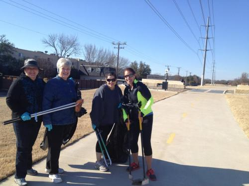 Friends from Royal Knoll Townhome Association help cleanup the trail each month.