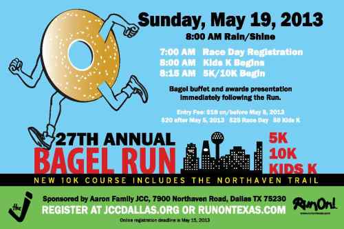 2013 JCC Bagel Run Postcard