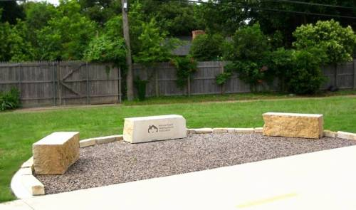 Located between St. Judes Dr and Hillcrest, Hillcrest Forest Neighborhood Association's generous donation has provided a new seating area on the trail.